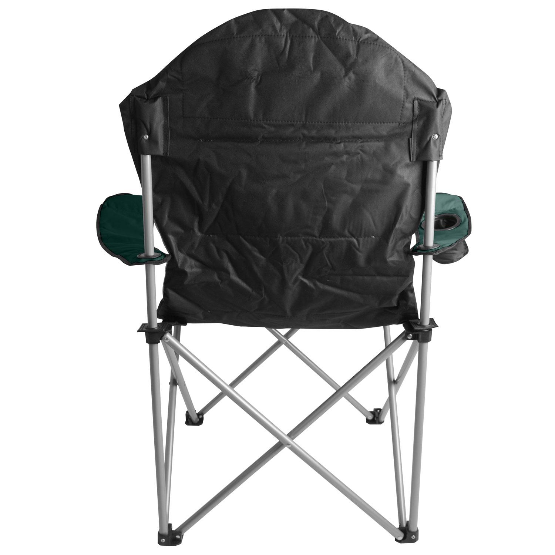Kestrel Deluxe Heavy Duty Padded Steel Folding Camping Festival Chair Cup Hol