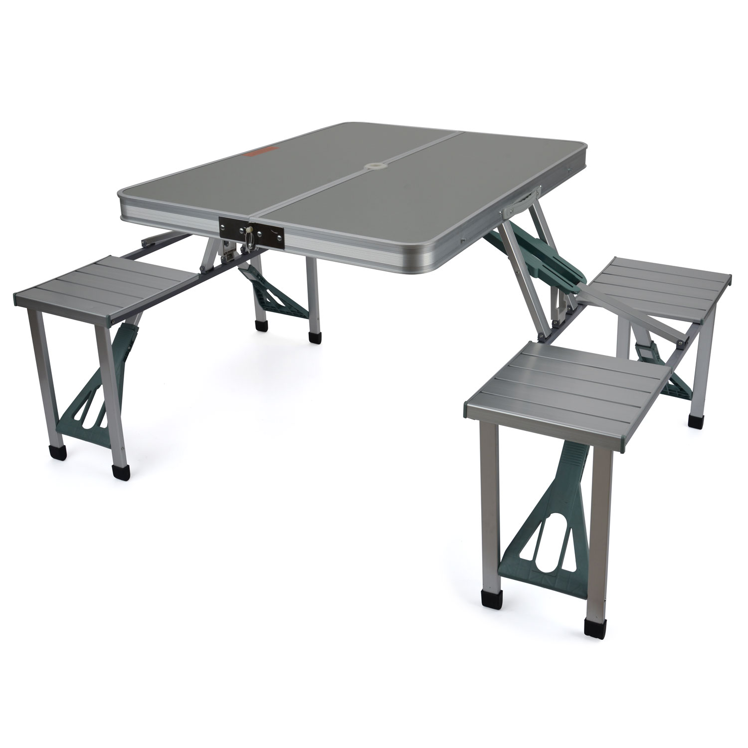 Trail aluminium portable folding camping outdoor bbq - Camping picnic table and chairs ...