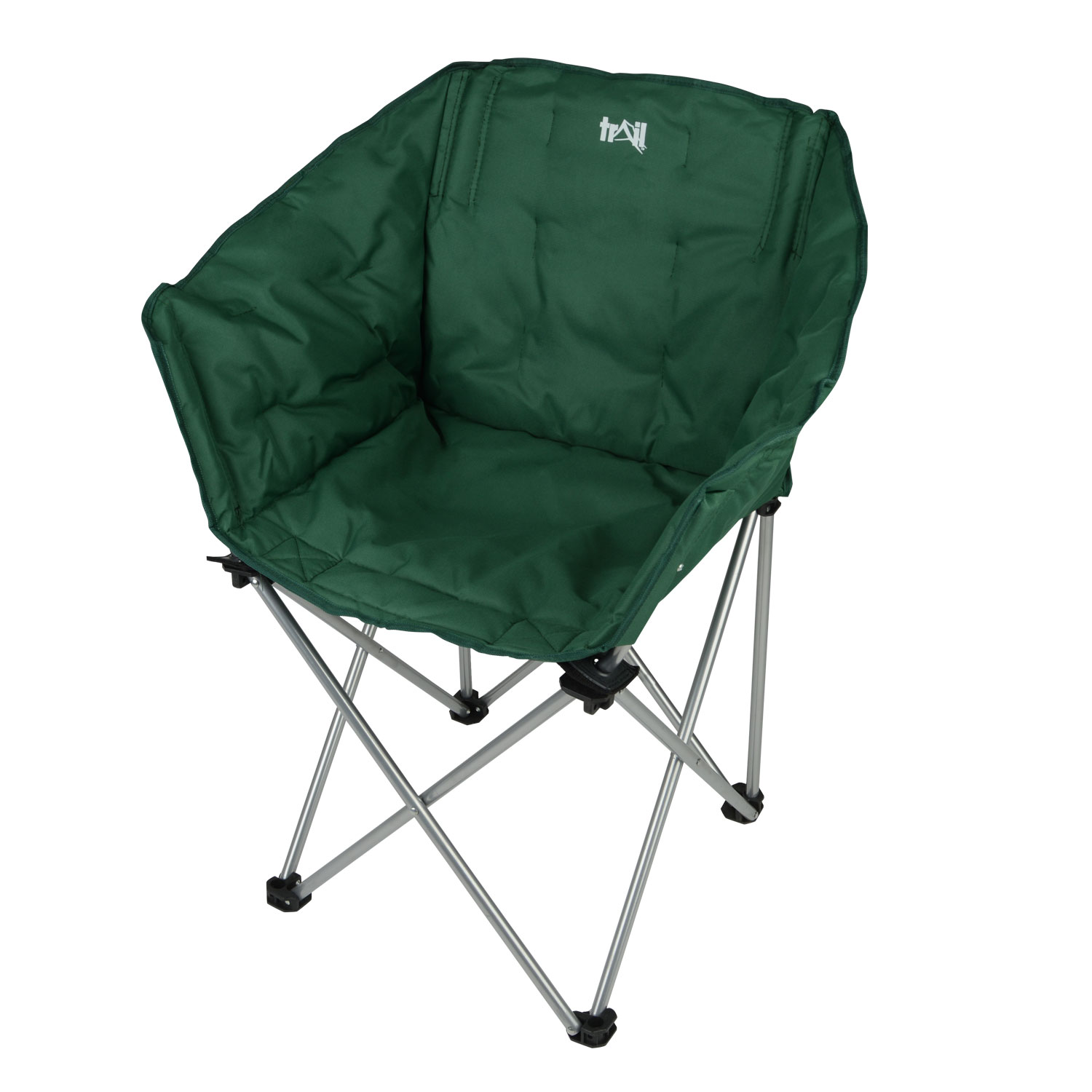 folding camping chair portable padded tub seat outdoor fishing festival by trail ebay. Black Bedroom Furniture Sets. Home Design Ideas