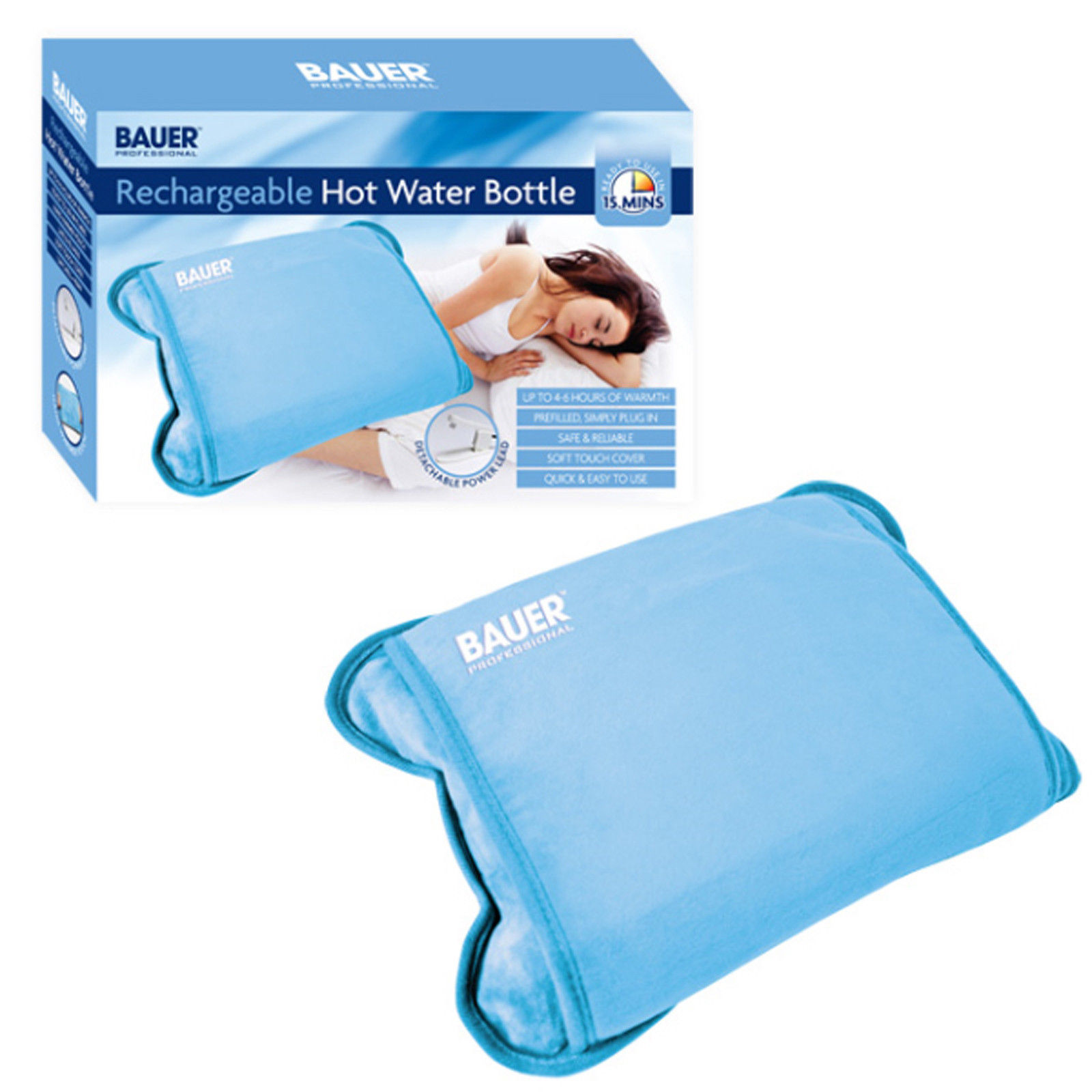 Rechargeable Hot Water Bottle Electric Cordless Bed Warmer