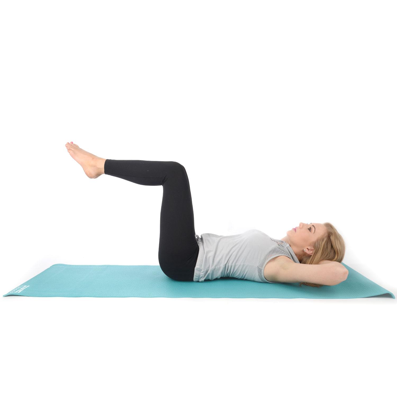 core balance non slip pvc foam exercise gym yoga pilates mat with strap. Black Bedroom Furniture Sets. Home Design Ideas