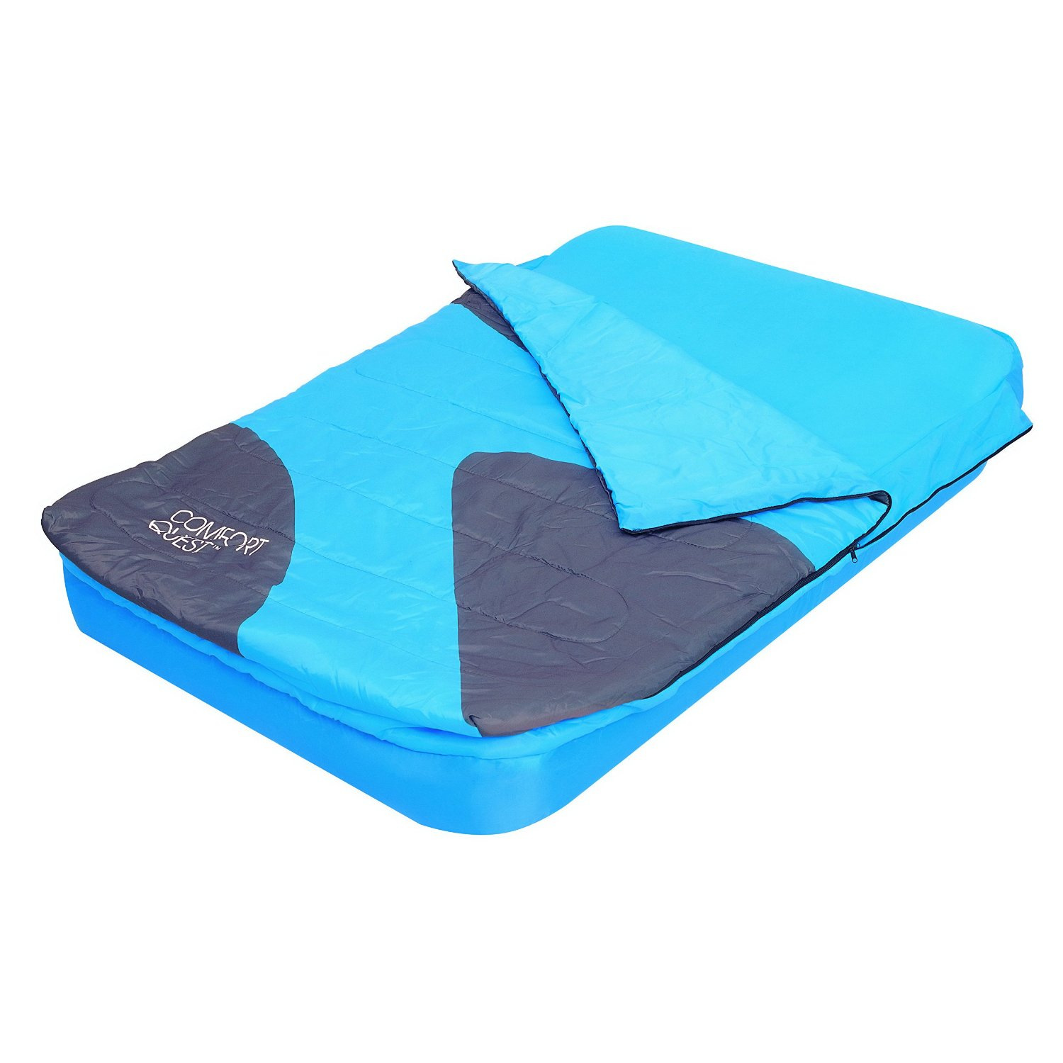 Aslepa double sleeping bag airbed inflatable camping air bed mattress