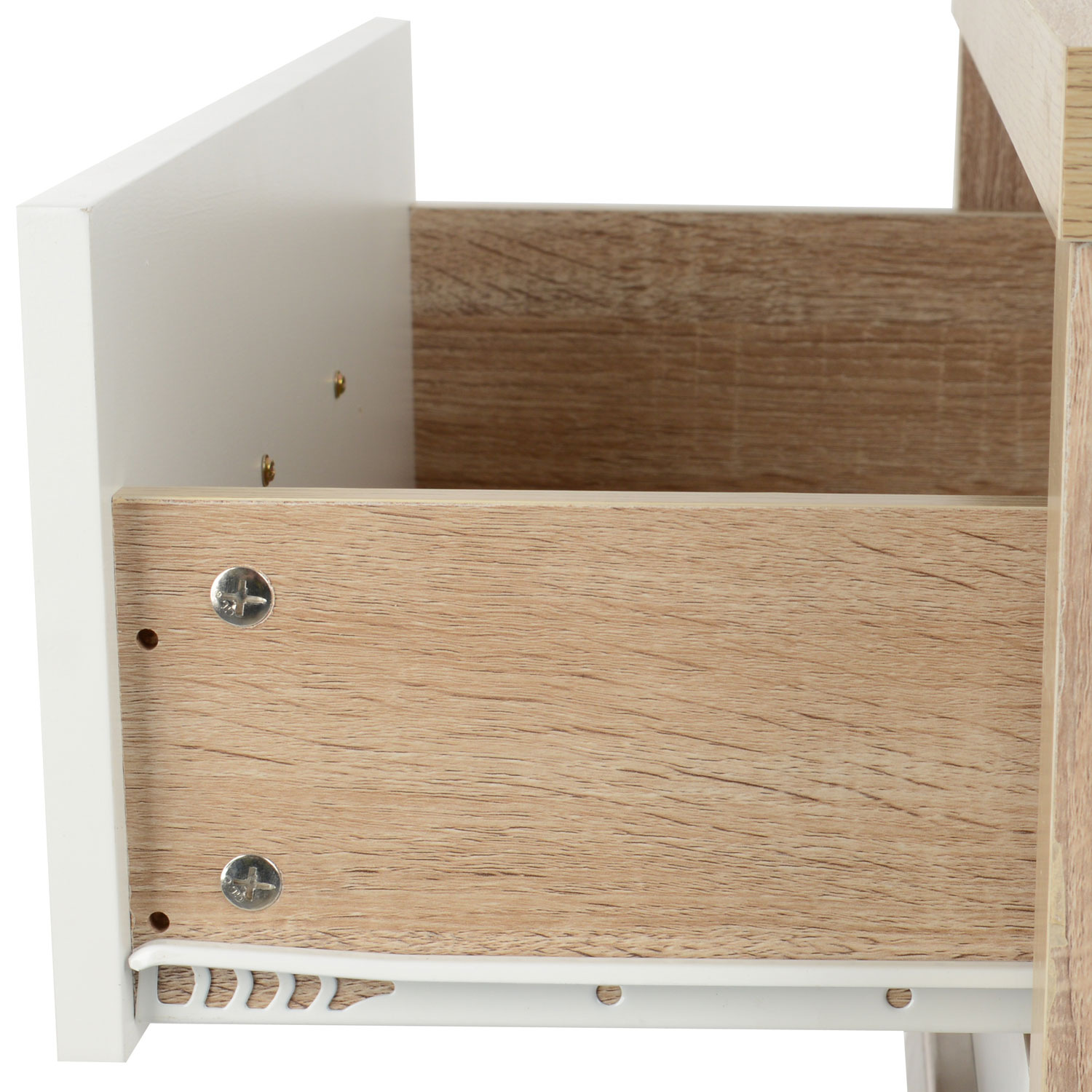2 drawer oak effect white wood bedside cabinet modern With what kind of paint to use on kitchen cabinets for wall art man climbing rope