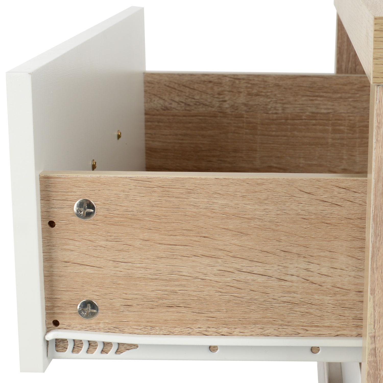 Modern Oak Bedroom Furniture Bianco White Light Oak Effect Modern Bedroom Furniture Chest