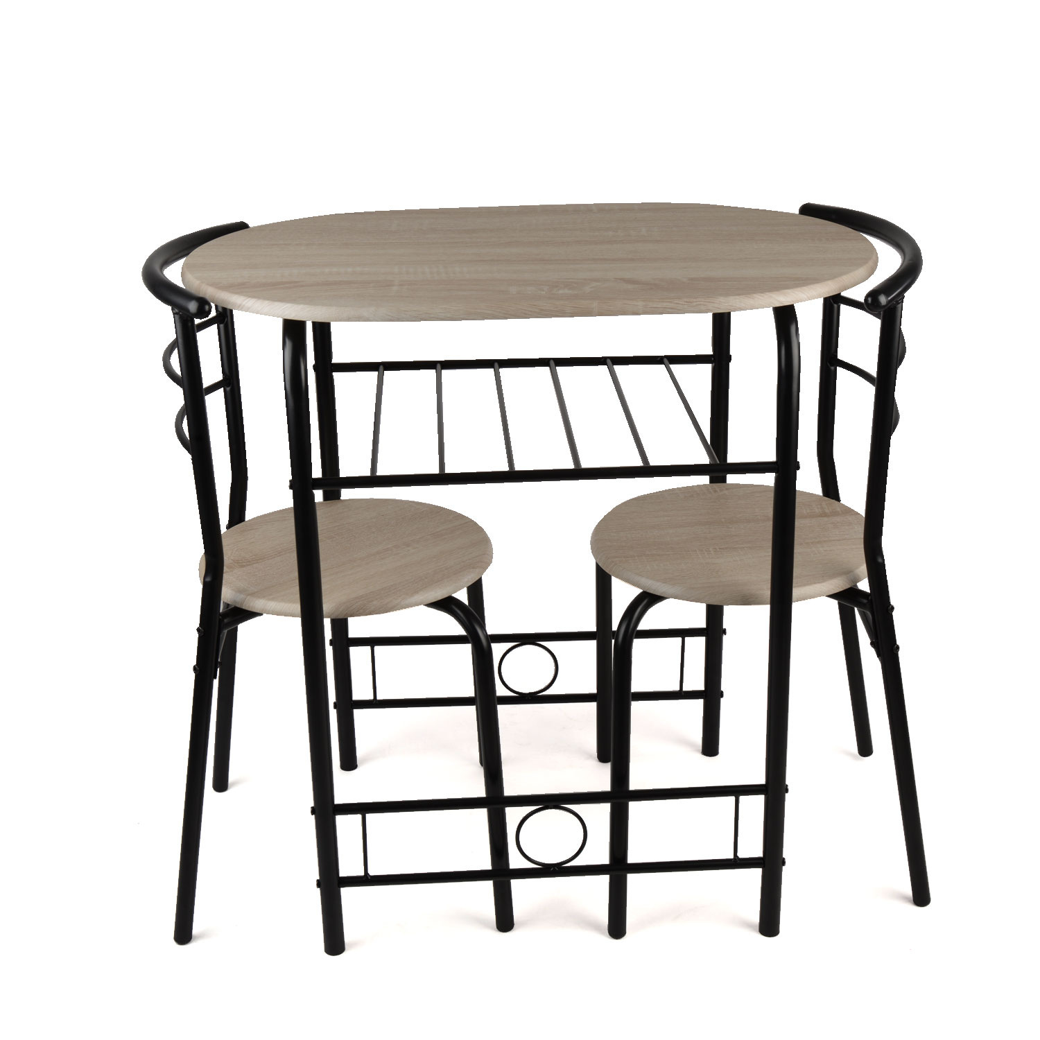3 piece dining set breakfast bar kitchen table chairs for Breakfast dining set