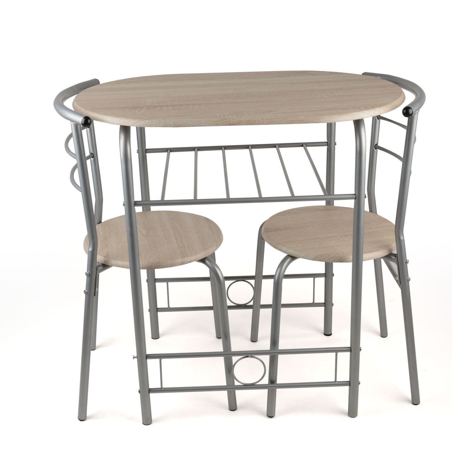 3 Piece Dining Set Breakfast Bar Kitchen Table Chairs Christow