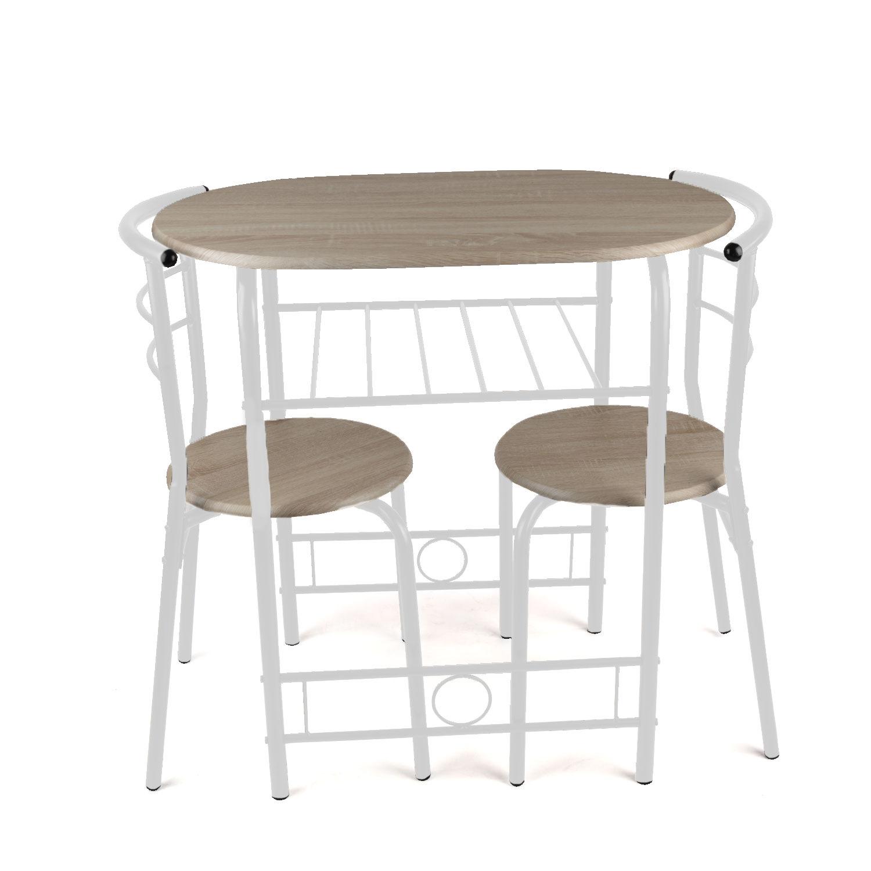3 Piece Dining Set Breakfast Bar Kitchen Table Chairs  : christow 3 piece breakfast dining set white 422079 2 from www.ebay.co.uk size 1500 x 1500 jpeg 134kB