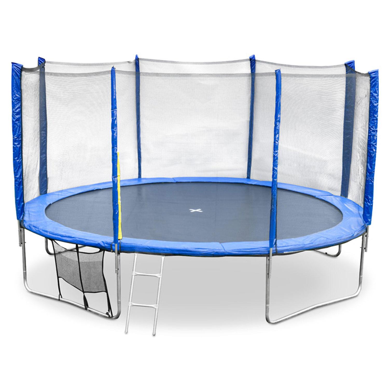 garden trampoline safety net enclosure ladder shoe bag rain cover 8 10 12 14ft ebay. Black Bedroom Furniture Sets. Home Design Ideas