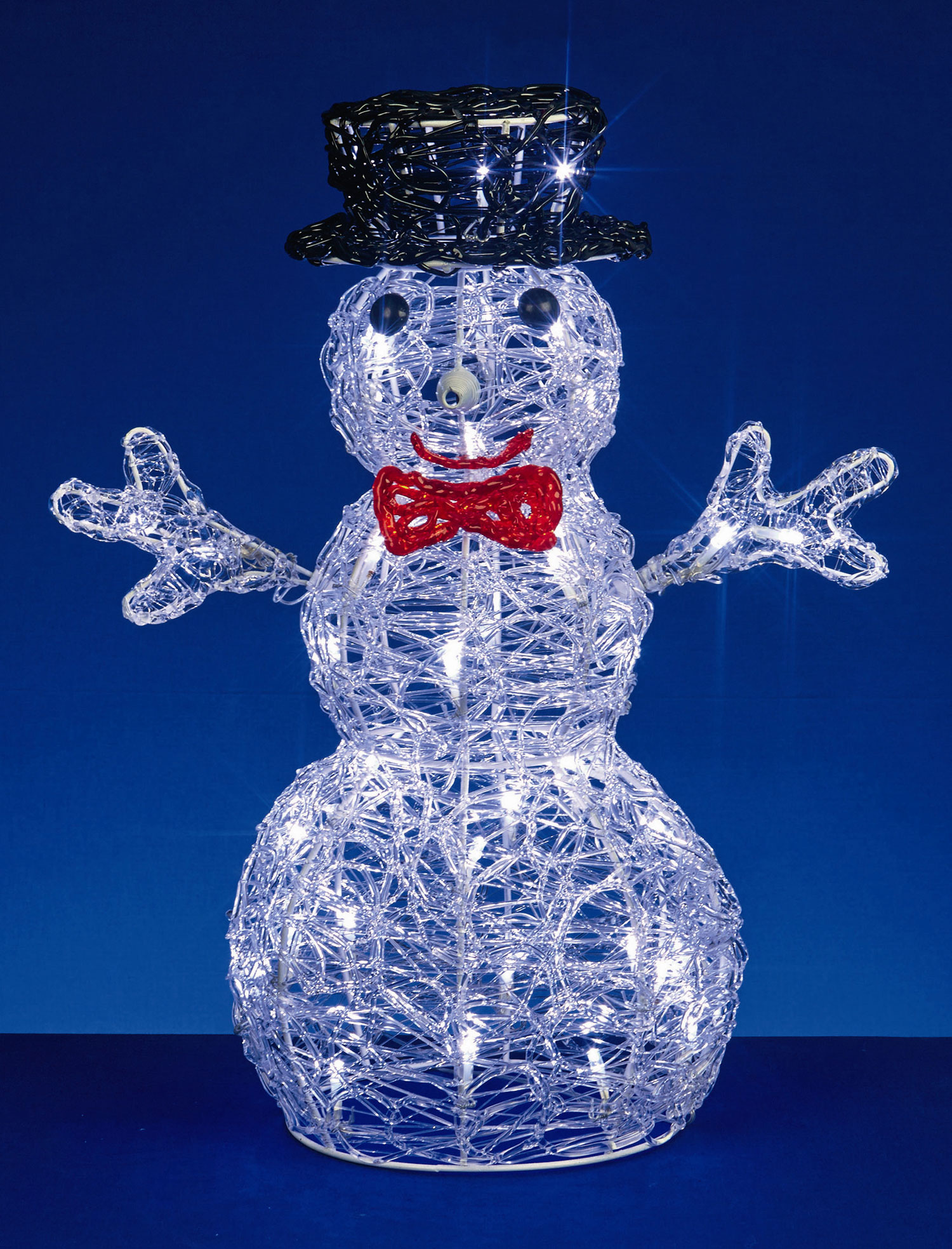 Light up acrylic snowman indoor outdoor christmas for Outdoor light up ornaments