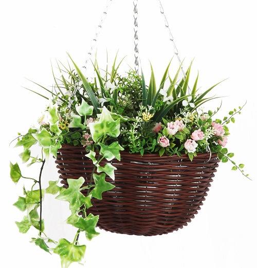 Hanging Flower Basket Maintenance : Smart garden artificial flower easy zero maintenance