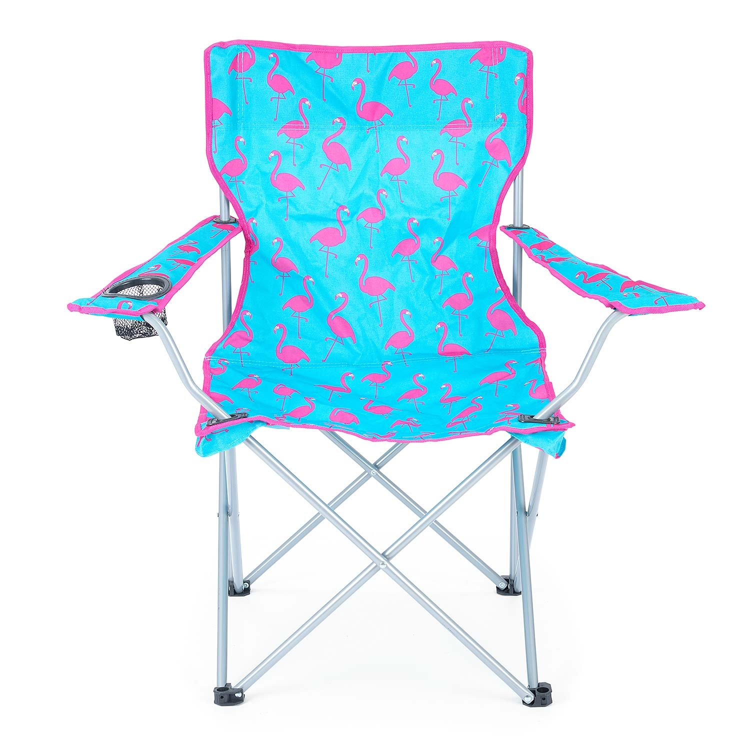 Folding-Camping-Chair-Lightweight-Beach-Festival-Outdoor-Travel-Seat-Flamingo thumbnail 5