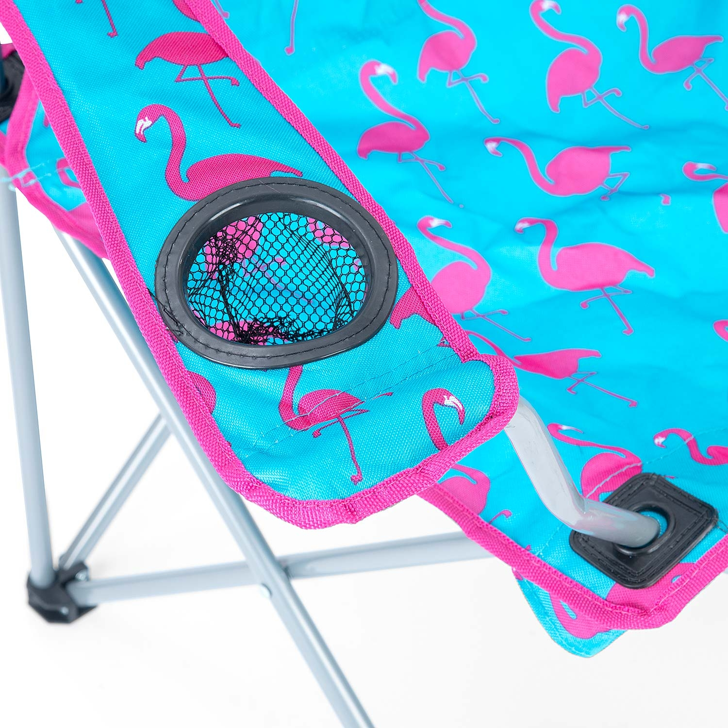 Folding-Camping-Chair-Lightweight-Beach-Festival-Outdoor-Travel-Seat-Flamingo thumbnail 7