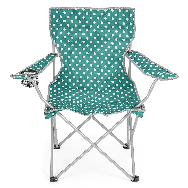 Folding Camping Chair Lightweight Beach Festival Outdoor Travel Seat Polka Dot